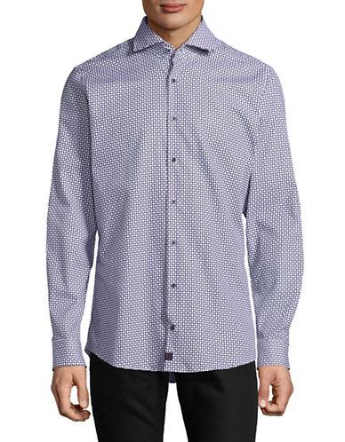 Strellson Printed Slim-Fit Shirt-BLUE-15-32/33