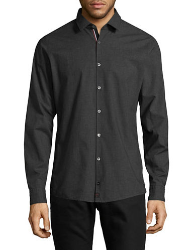 Strellson Icon Steve Cotton Sport Shirt-GREY-Medium