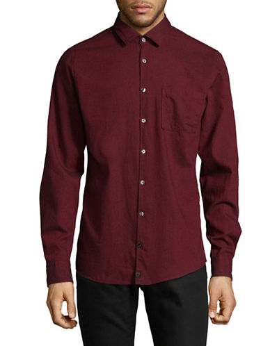 Strellson Printed Slim-Fit Shirt-RED-Small