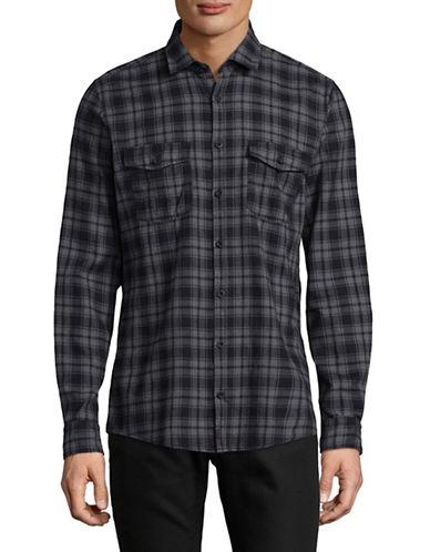 Strellson Stellan Cotton Sport Shirt-GREY-Small