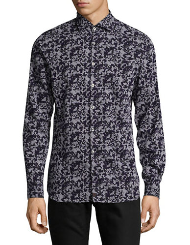 Strellson Shayne Cotton Sport Shirt-BLUE-X-Large