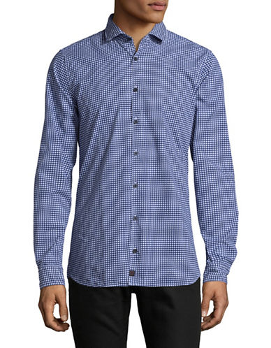 Strellson Shayne Cotton Sport Shirt-BLUE-Medium