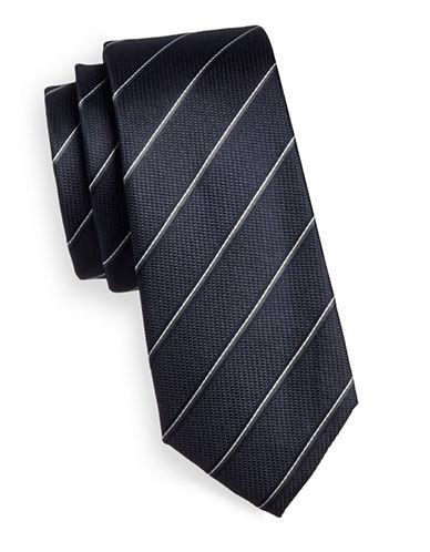 Strellson Diagonal Stripe Silk Tie-BLUE-One Size