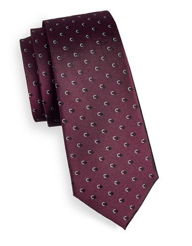 Strellson Shadow Dot Silk Tie-PINK-One Size