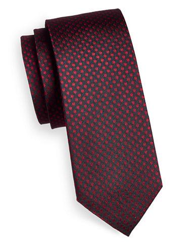 Strellson Geo Print Silk Tie-RED-One Size
