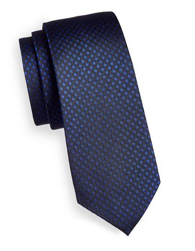Strellson Geo Print Silk Tie-BLUE-One Size
