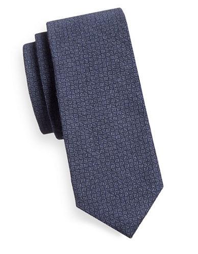Strellson Woven Polka-Dot Silk Tie-BLUE-One Size