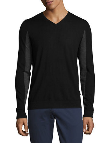 Strellson Millow Virgin Wool Sweatshirt-BLACK-Large