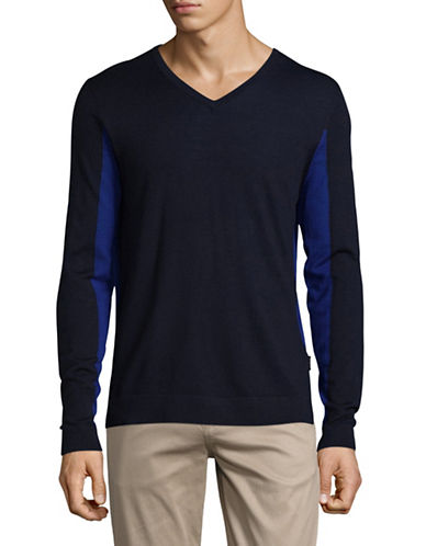Strellson Millow Virgin Wool Sweatshirt-BLUE-Large