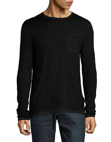 Strellson Larson Virgin Wool Tee-BLACK-Small