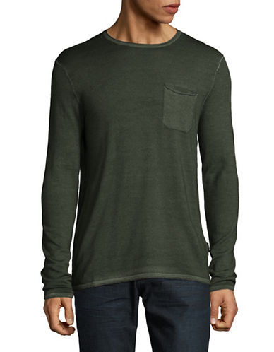 Strellson Larson Virgin Wool Tee-GREEN-Large