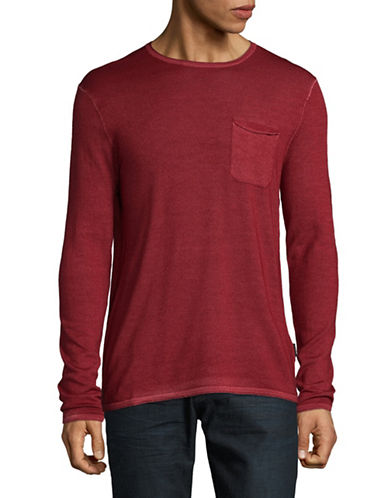 Strellson Larson Virgin Wool Tee-RED-Medium