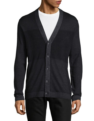 Strellson Larson Virgin Wool Cardigan-BLACK-X-Large