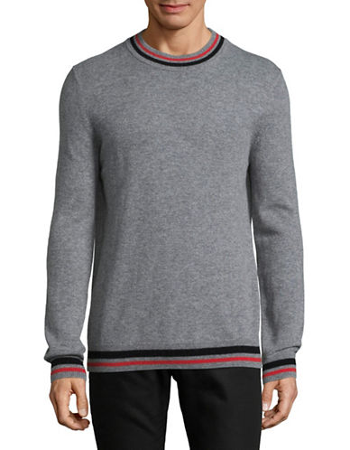 Strellson Guard Heathered Wool-Cashmere Sweater-SILVER-X-Large
