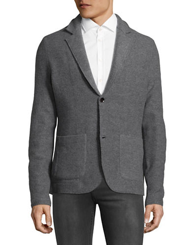 Strellson Courier Virgin Wool Blazer-GREY-X-Large
