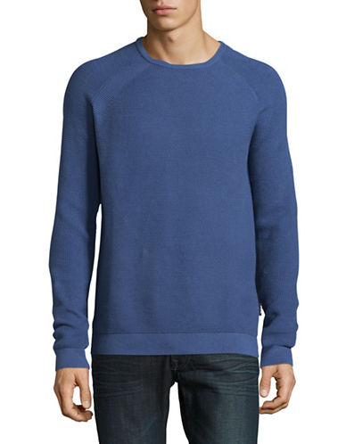 Strellson Farmer Cotton Sweatshirt-BLUE-XX-Large