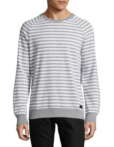 Strellson Striped Sweater-GREY-X-Large