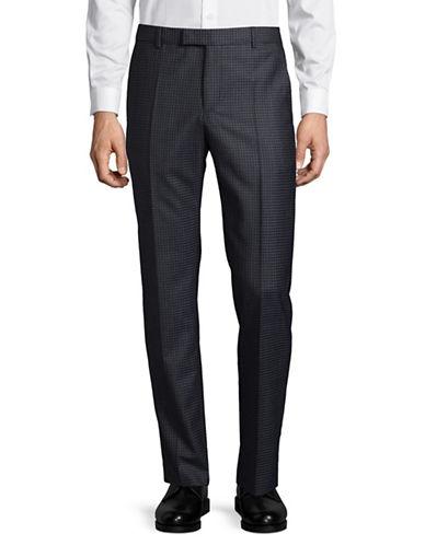 Strellson Tonal Virgin Wool Dress Pants-BLUE-38