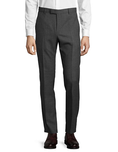 Strellson Tonal Virgin Wool Dress Pants-GREY-38