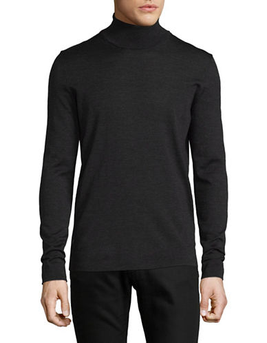 Strellson Virgin Wool Turtleneck-GREY-X-Large