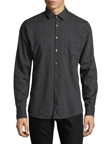 Strellson Printed Slim-Fit Shirt-GREY-X-Large