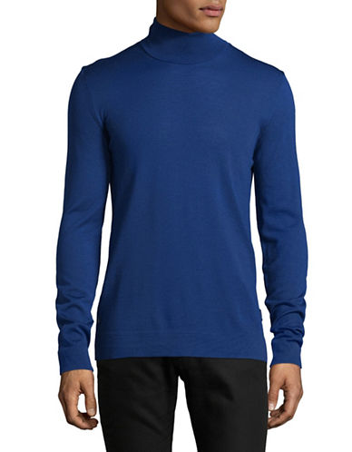 Strellson Virgin Wool Turtleneck-BLUE-Medium