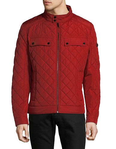 Strellson Long Sleeve Quilted Jacket-RED-36