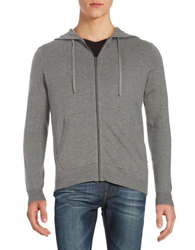 Strellson Cotton-Cashmere Zip Hoodie-GREY-Small 88604378_GREY_Small