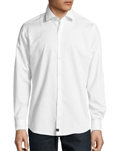 Strellson Santos Slim-Fit Button Shirt-WHITE-43