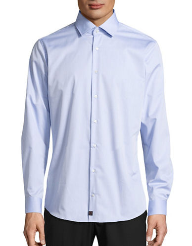 Strellson Santos Slim-Fit Button Shirt-LIGHT BLUE-15.5-34/35