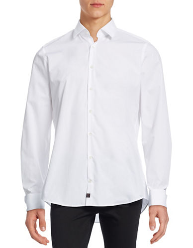 Strellson Slim-Fit Cotton Sport Shirt-WHITE-41