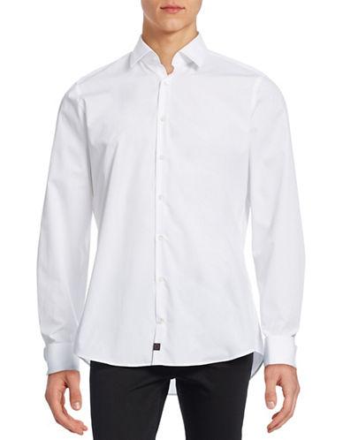 Strellson Slim-Fit Cotton Sport Shirt-WHITE-42
