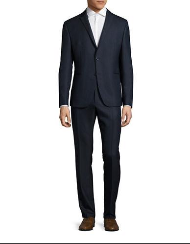 Strellson Dot Jacquard Virgin Wool Suit-NAVY-52
