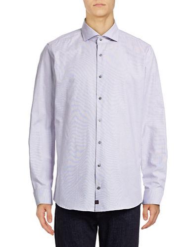 Strellson Slim-Fit Diamond Dobby Sport Shirt-GREY-15.5-34/35
