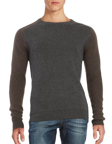 Strellson Knit Crewneck Sweater-GREY-Large 88499616_GREY_Large