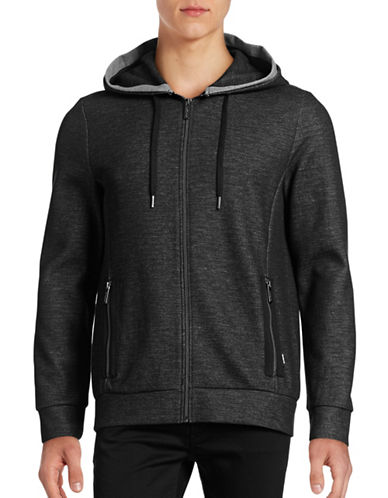 Strellson Layered Zip-Pocket Hoodie-BLACK-Large 88499635_BLACK_Large