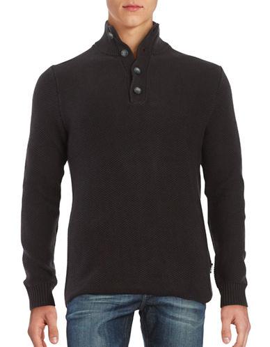 Strellson Cyrus Mock Neck Sweater-BLACK-Medium 88499592_BLACK_Medium