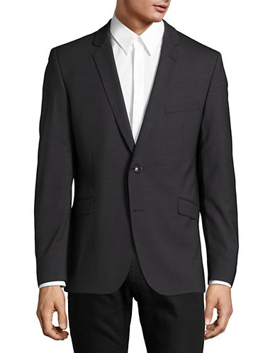 Strellson Wool Sports Jacket-CHARCOAL-46 Tall