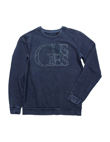 Guess Acid Wash Logo Sweatshirt-NAVY-X-Large 88610377_NAVY_X-Large
