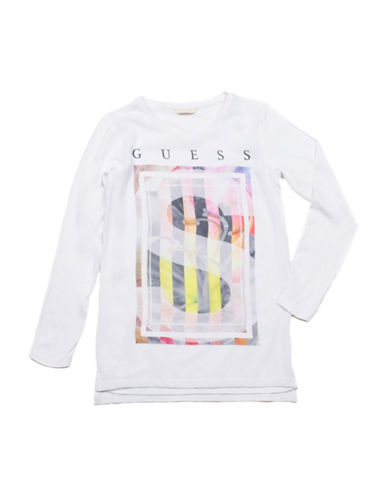 Guess S Layered Graphic Tee-WHITE-X-Large 88511768_WHITE_X-Large