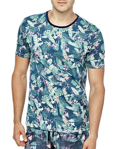 Guess Printed Beachwear Jersey Tee-PINK-Large 89015121_PINK_Large