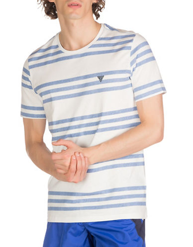 Guess Striped Beachwear Tee-WHITE-Medium 89015137_WHITE_Medium