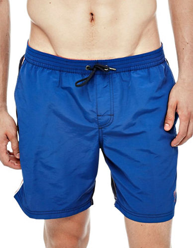 Guess Woven Medium-Length Swim Shorts-BLUE-X-Large