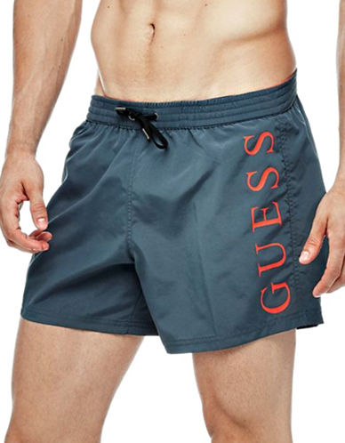 Guess Woven Swim Shorts-BLACK-X-Large