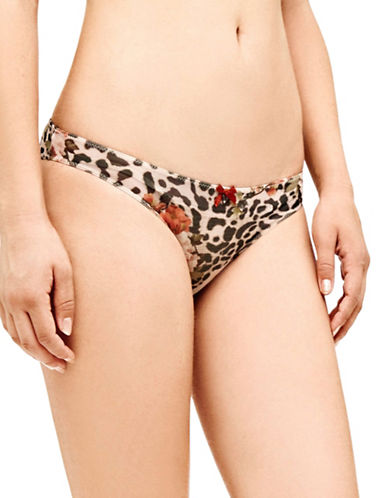 Guess Leopard Printed Mesh Briefs-FLORAL PRINT MULTI-X-Small