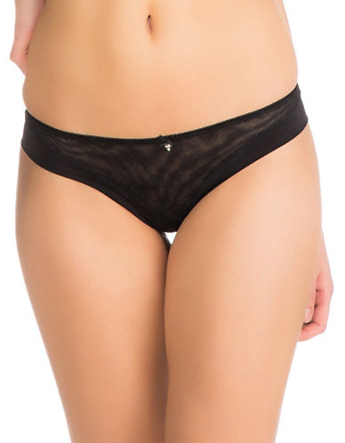 Guess Quattro G Mesh Brazilian Brief-BLACK-Small