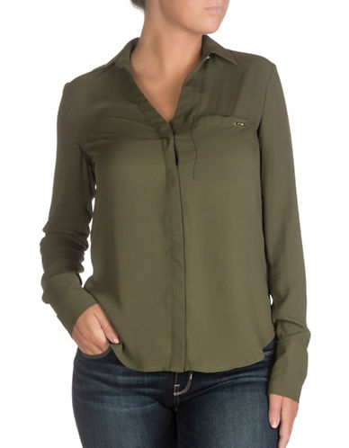 Guess Sasha Shirt-GREENWICH GREEN-X-Small