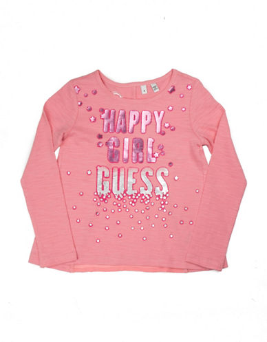 Guess Split Back Top-PINK-2T