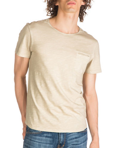 Guess Nolan Cotton T-Shirt-NATURAL-Small