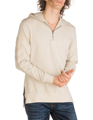 Guess Joe Cotton Hoodie-NATURAL-X-Large